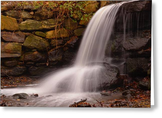 Bedford Hills Greeting Cards - Waterfall In Cow Pasture Greeting Card by Bedford Shore Photography