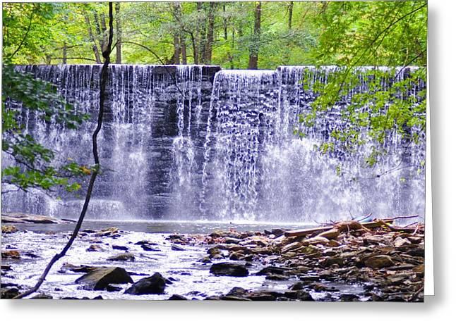 Stream Digital Art Greeting Cards - WaterFall in Gladwyne Greeting Card by Bill Cannon