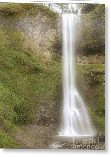 Pacific Ocean Prints Greeting Cards - Waterfall Mist Greeting Card by Andrea Hazel Ihlefeld