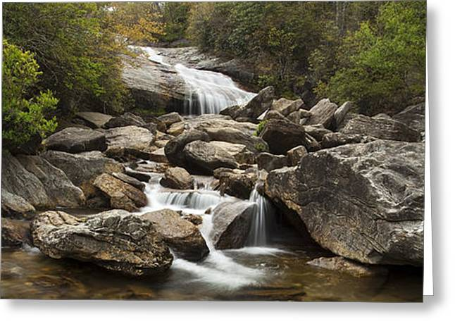 Peaceful Scenery Greeting Cards - Waterfall Panorama Greeting Card by Andrew Soundarajan