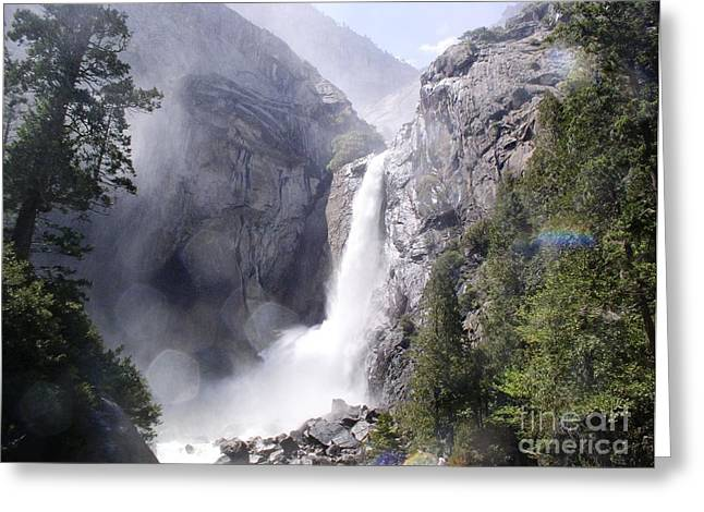 Suzanne Clark Greeting Cards - Waterfall Greeting Card by Suzanne Clark