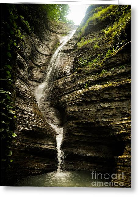 Water In Caves Greeting Cards - Waterfall Greeting Card by Victor Durasov