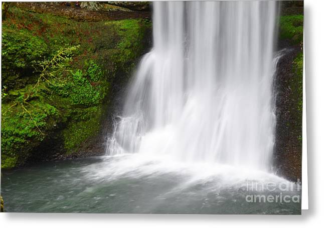 Pacific Ocean Prints Greeting Cards - Waterfalls End Greeting Card by Andrea Hazel Ihlefeld