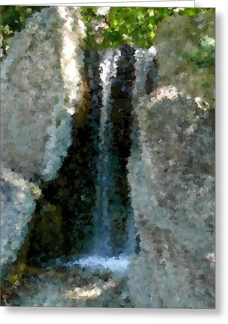 Dappled Light Digital Art Greeting Cards - Waterfalls in Dappled Light Greeting Card by Terri Thompson