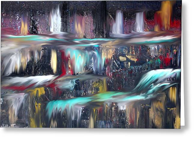Waterfalls  Greeting Card by KELLY TURNER