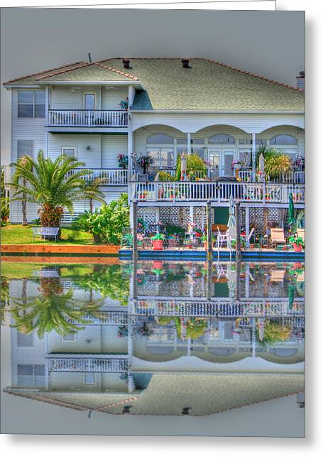 Slidell Greeting Cards - Waterfront Propery Greeting Card by Barry Jones