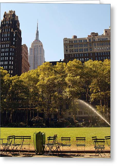 Watering Of The Grass Greeting Card by Luis Lugo