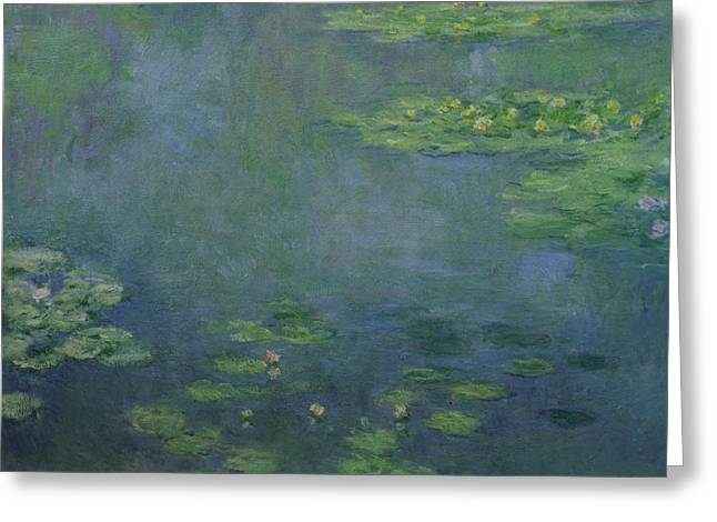 Masterpiece Paintings Greeting Cards - Waterlilies Greeting Card by Claude Monet