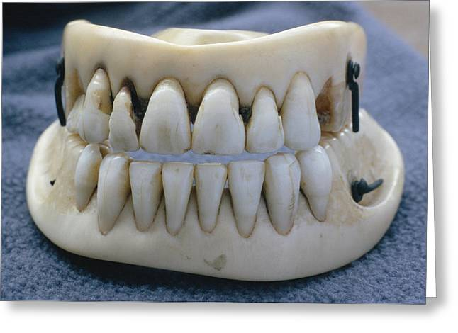 Historical Images Greeting Cards - Waterloo False Teeth Greeting Card by Adam Hart-davis