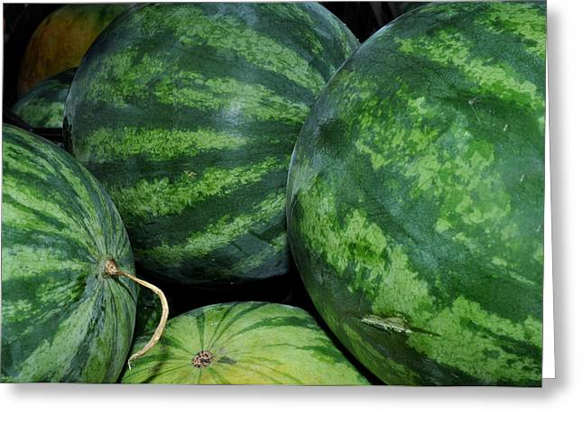 Local Food Greeting Cards - Watermelon Greeting Card by Diane Lent