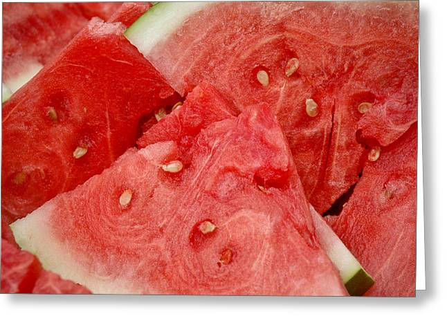 Melon Greeting Cards - Watermelon Madness Greeting Card by Frank Mari