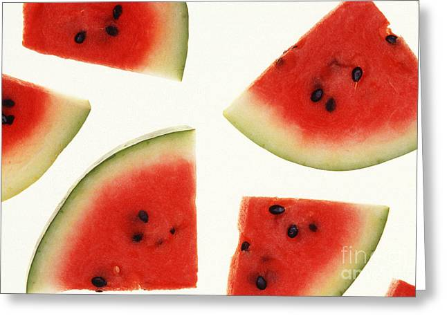 Watermelon Photographs Greeting Cards - Watermelon Greeting Card by Photo Researchers
