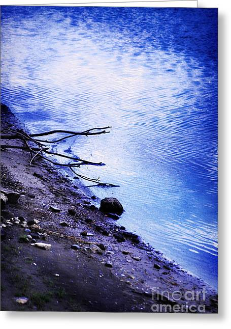 Sunrise Greeting Cards - Waters Edge At Dawn Greeting Card by HD Connelly