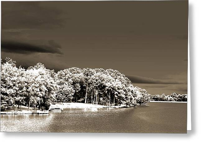 Infared Photography Greeting Cards - Waters Edge Greeting Card by Barry Jones