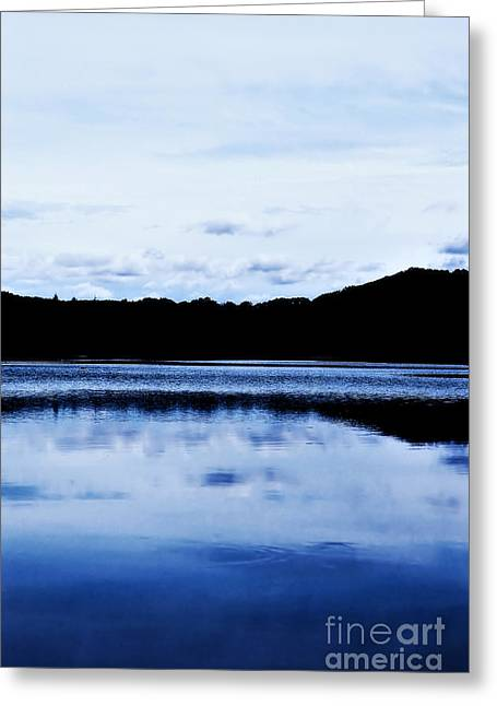 Calm Waters Greeting Cards - Waterscape Granville MA Greeting Card by HD Connelly