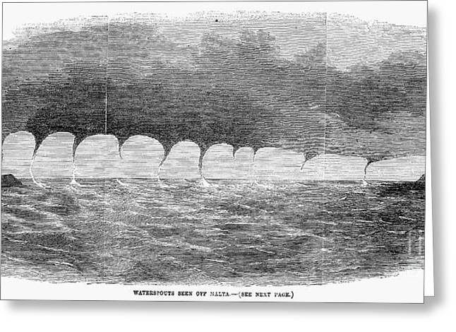 Maltese Greeting Cards - Waterspouts, 1856 Greeting Card by Granger