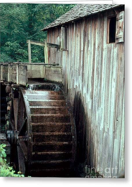 Water Powered Generator Greeting Cards - Waterwheel Greeting Card by Robert Ashworth