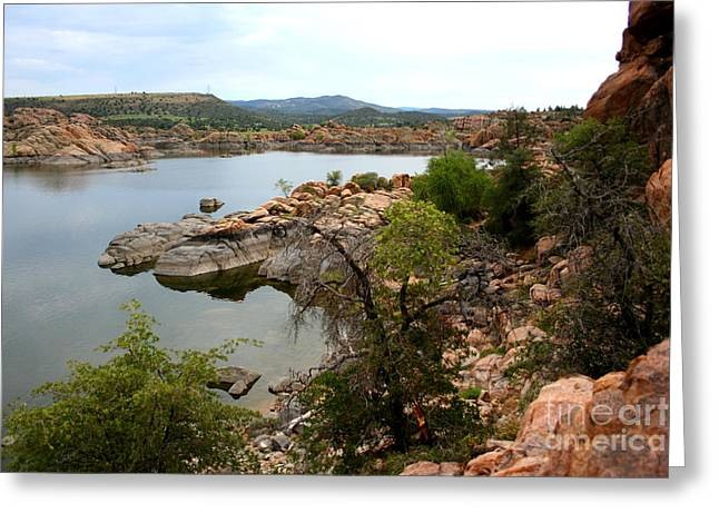 Watson Lake Greeting Cards - Watson lake 2 Greeting Card by Julie Lueders