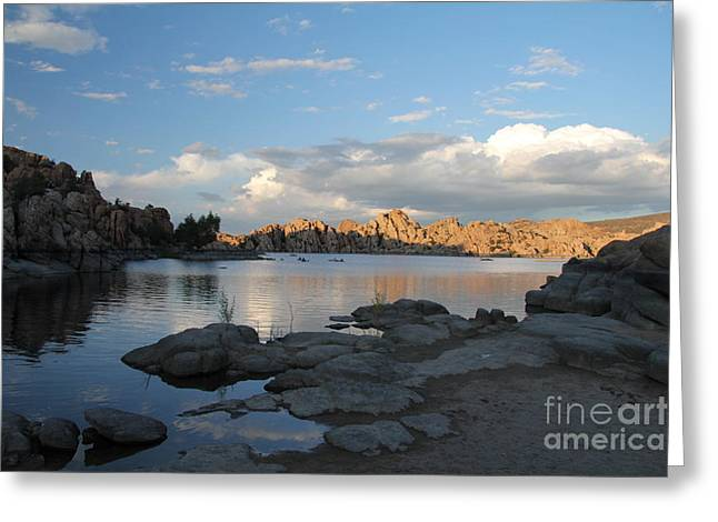 Watson Lake 5  Greeting Card by Diane Greco-Lesser