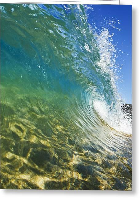 Printscapes - Greeting Cards - Wave - Makena Greeting Card by MakenaStockMedia