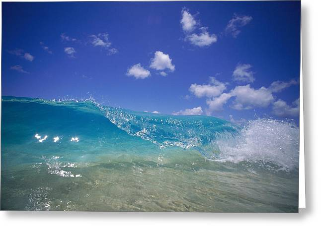 Vince Greeting Cards - Wave At Shorebreak Greeting Card by Vince Cavataio - Printscapes
