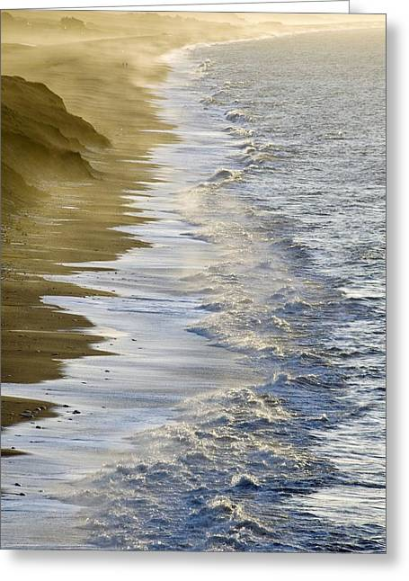 Burton Greeting Cards - Wave Breaking Greeting Card by Adrian Bicker