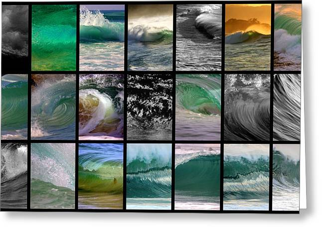 Seascape Photography Greeting Cards - Wave Chart Greeting Card by Brad Scott