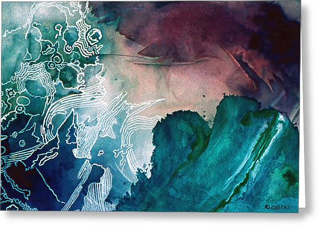 Abstract Waves Greeting Cards - Wave Greeting Card by Eunice Olson