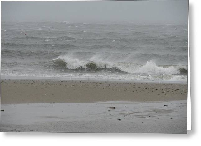 Storm Clouds Cape Cod Greeting Cards - Wave of Anger Greeting Card by Brian Mazzoli