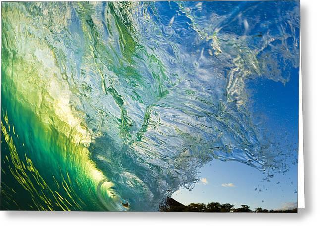 Amazing Greeting Cards - Wave Splash Greeting Card by MakenaStockMedia