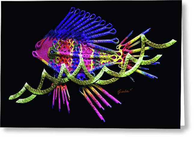 Metal Fish Art Photography Greeting Cards - Wave Surfer Greeting Card by Charles Carlos Odom