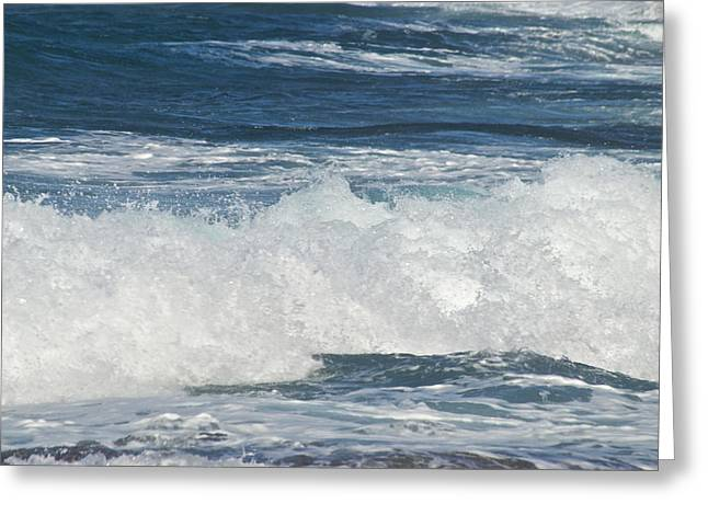 Waves Breaking 7964 Greeting Card by Michael Peychich
