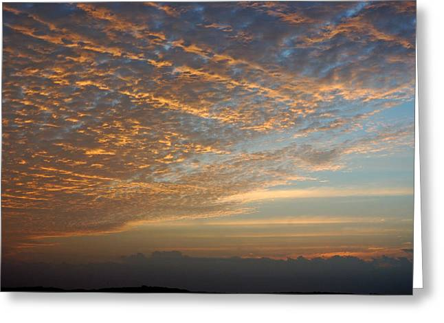 Skys Greeting Cards - Waves of Light Greeting Card by Robert Anschutz