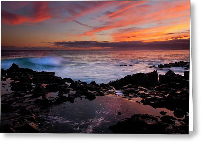 Beachscape Greeting Cards - Waves of Paradise Greeting Card by Mike  Dawson