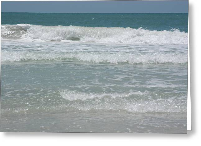 Ventura California Greeting Cards - Waves Roll Into Shore Greeting Card by Stacy Gold