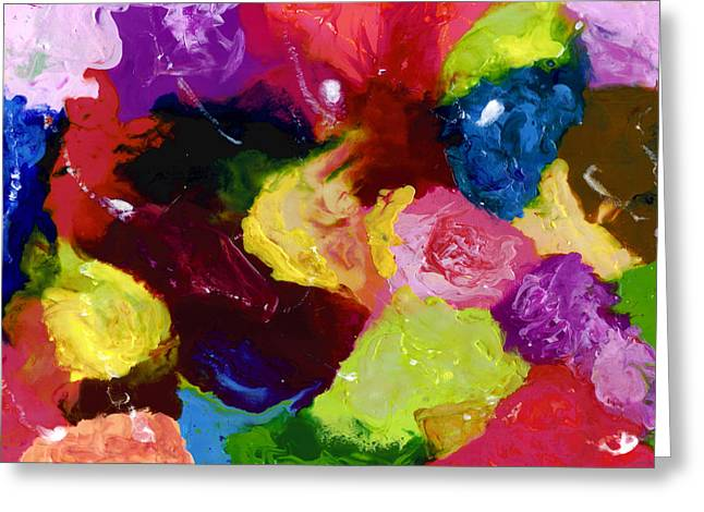 Encaustic Greeting Cards - Wax Rainbow On Canvax Two K O One Greeting Card by Carl Deaville
