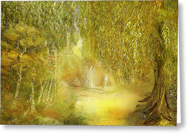 Pondering Greeting Cards - Way Of Thoughts Greeting Card by Anne Weirich