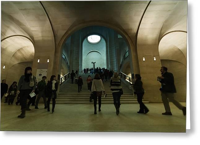 Nike Greeting Cards - Nike Sculpture in Louvre Museum Greeting Card by Mustafa Otyakmaz