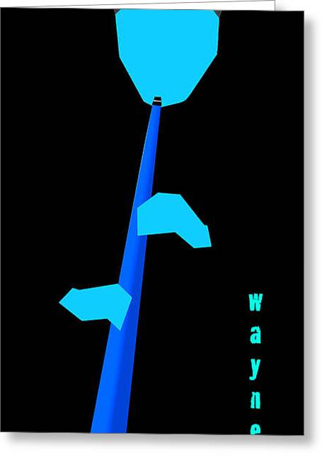 Weather Report Greeting Cards - Wayne Shorter Blue Greeting Card by Victor Bailey