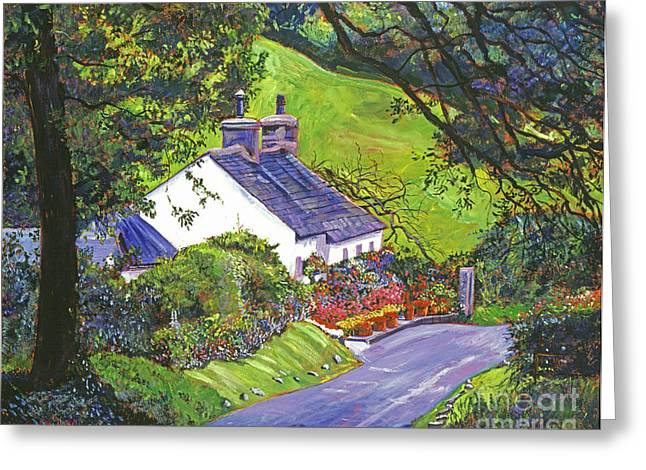 Sentimental Greeting Cards - Wayside House Greeting Card by David Lloyd Glover