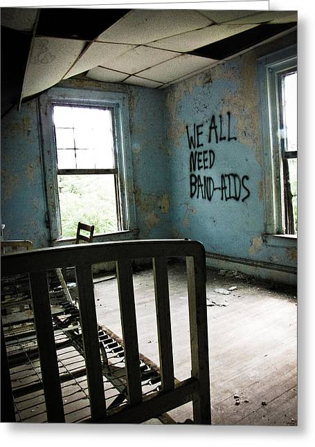 Psychology Photographs Greeting Cards - We All Need Band-Aids Greeting Card by Jessica Brawley