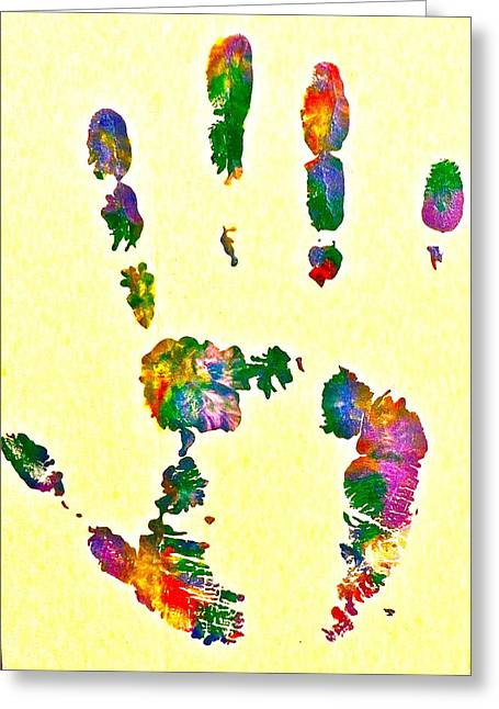 We Are All One Paintings Greeting Cards - We are as One Humanity Greeting Card by Gloria Warren