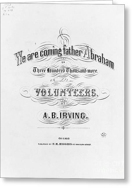 Enlistment Greeting Cards - We Are Coming, Father Abraham Greeting Card by Photo Researchers