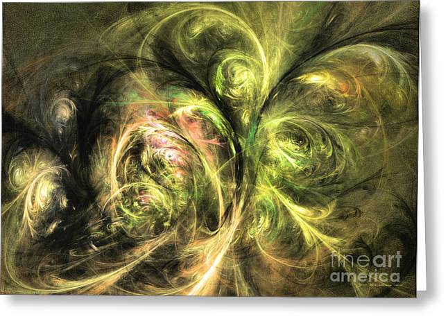 Interior Still Life Mixed Media Greeting Cards - We are not alone - abstract art Greeting Card by Abstract art prints by Sipo