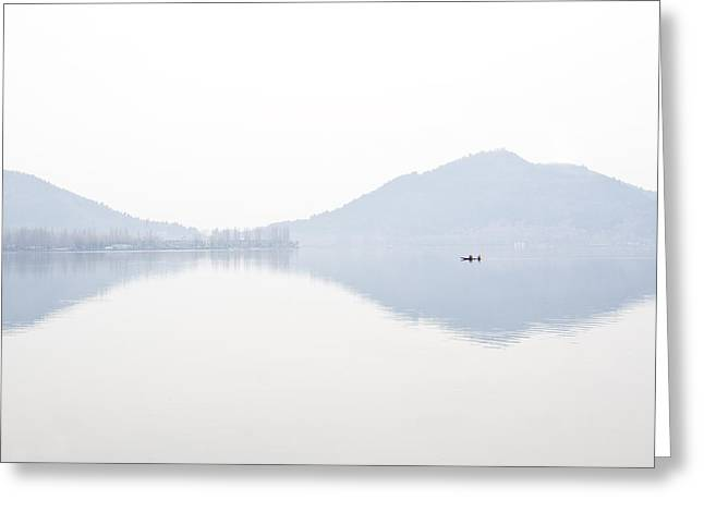 Dal Lake Greeting Cards - We are smaller than a dot Greeting Card by Ng Hock How