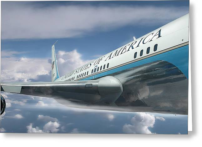 President Of America Greeting Cards - We Are Still in the Air and Flying High Greeting Card by Jeff Burgess