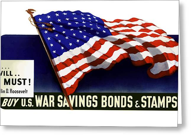 Franklin Digital Art Greeting Cards - We can We will We must  Greeting Card by War Is Hell Store
