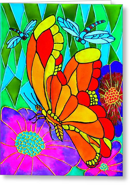 Bees Glass Art Greeting Cards - We Fly Greeting Card by Farah Faizal