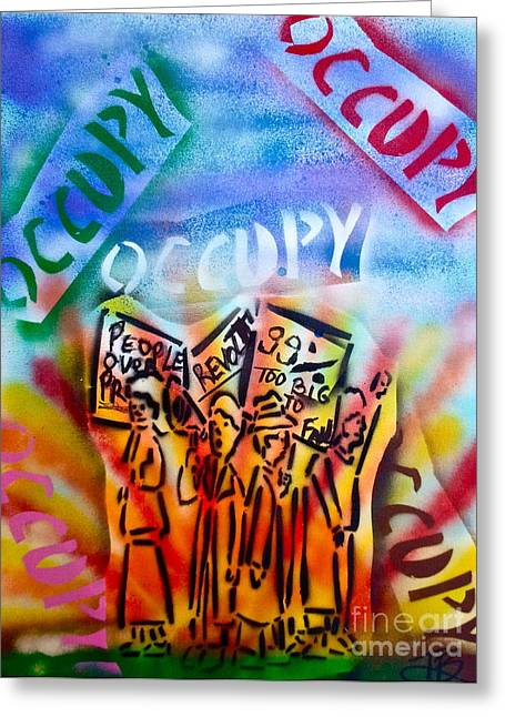 99 Percent Greeting Cards - We Occupy Greeting Card by Tony B Conscious