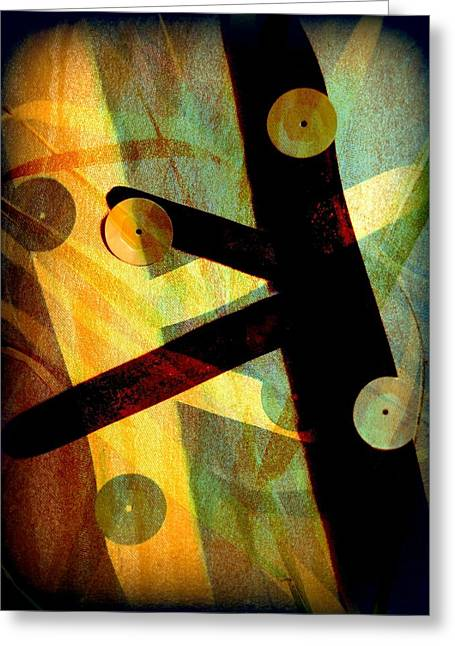 Yellow Green Greeting Cards - We Shall Dance Greeting Card by Shirley Sirois